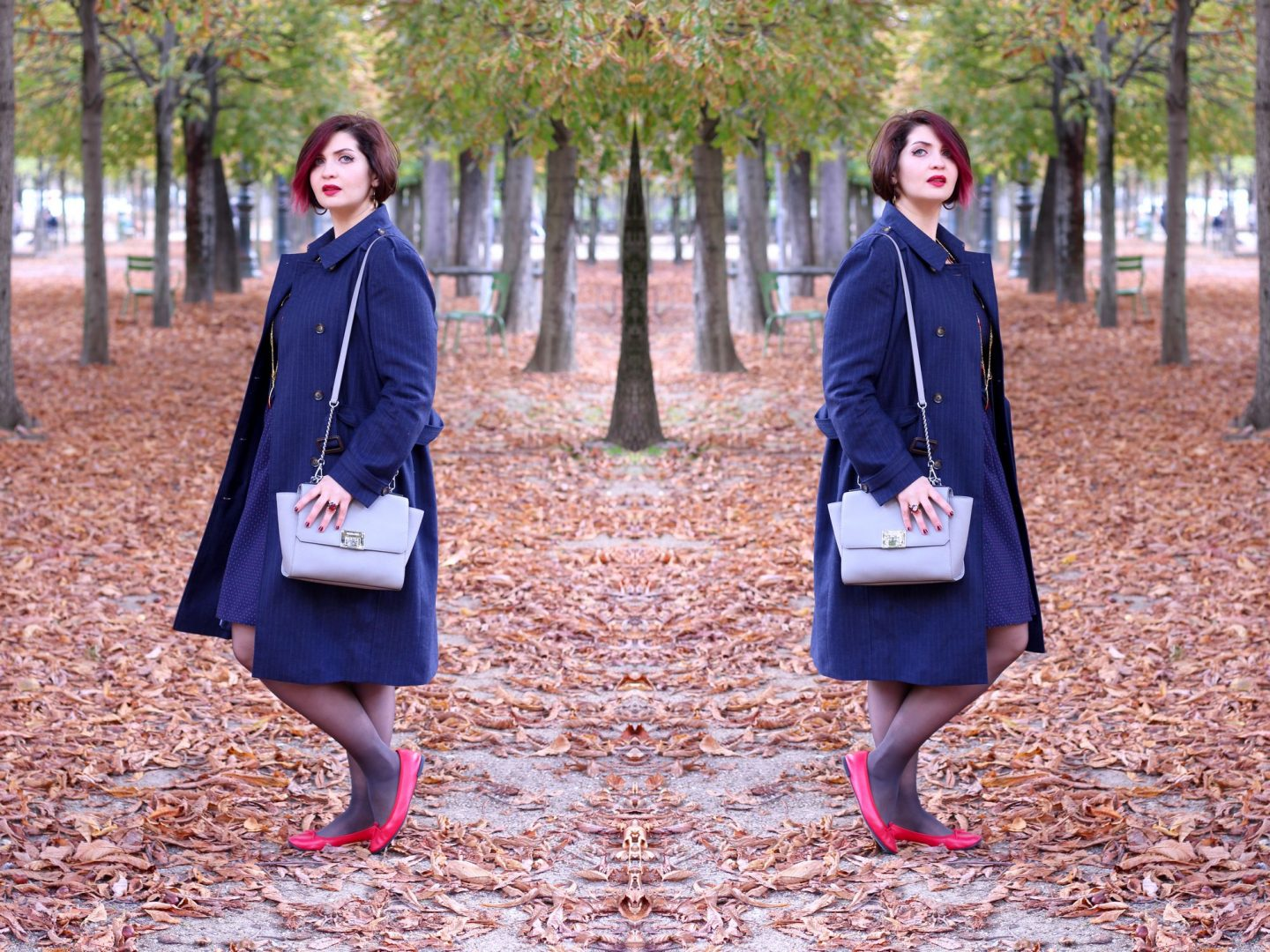 Marshmalloword look automne jardin tuileries paris