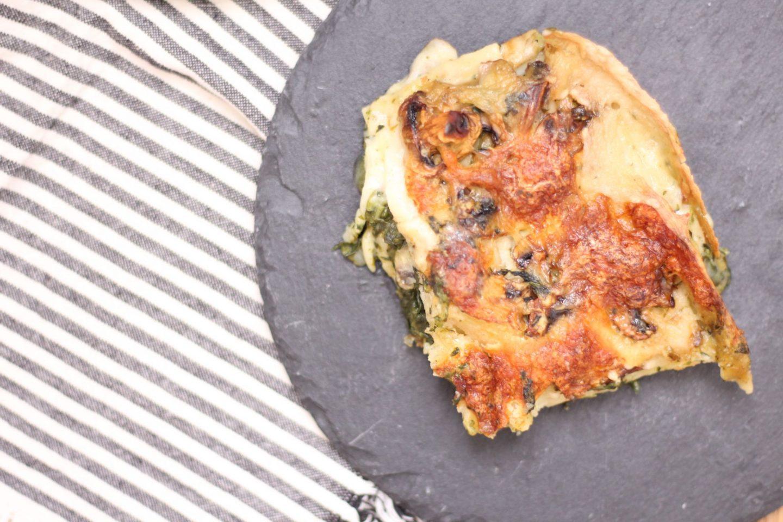 lasagnes épinards champignons