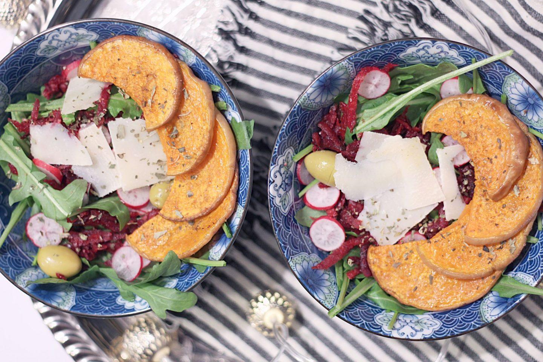 salade roquette butternut