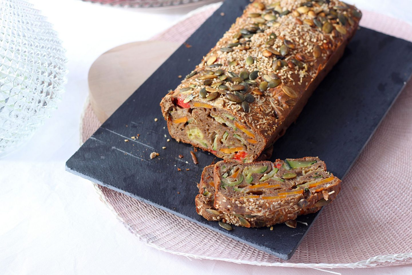 Vegetables buckwheat cake