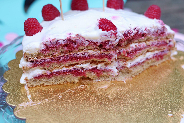 naked cake framboise