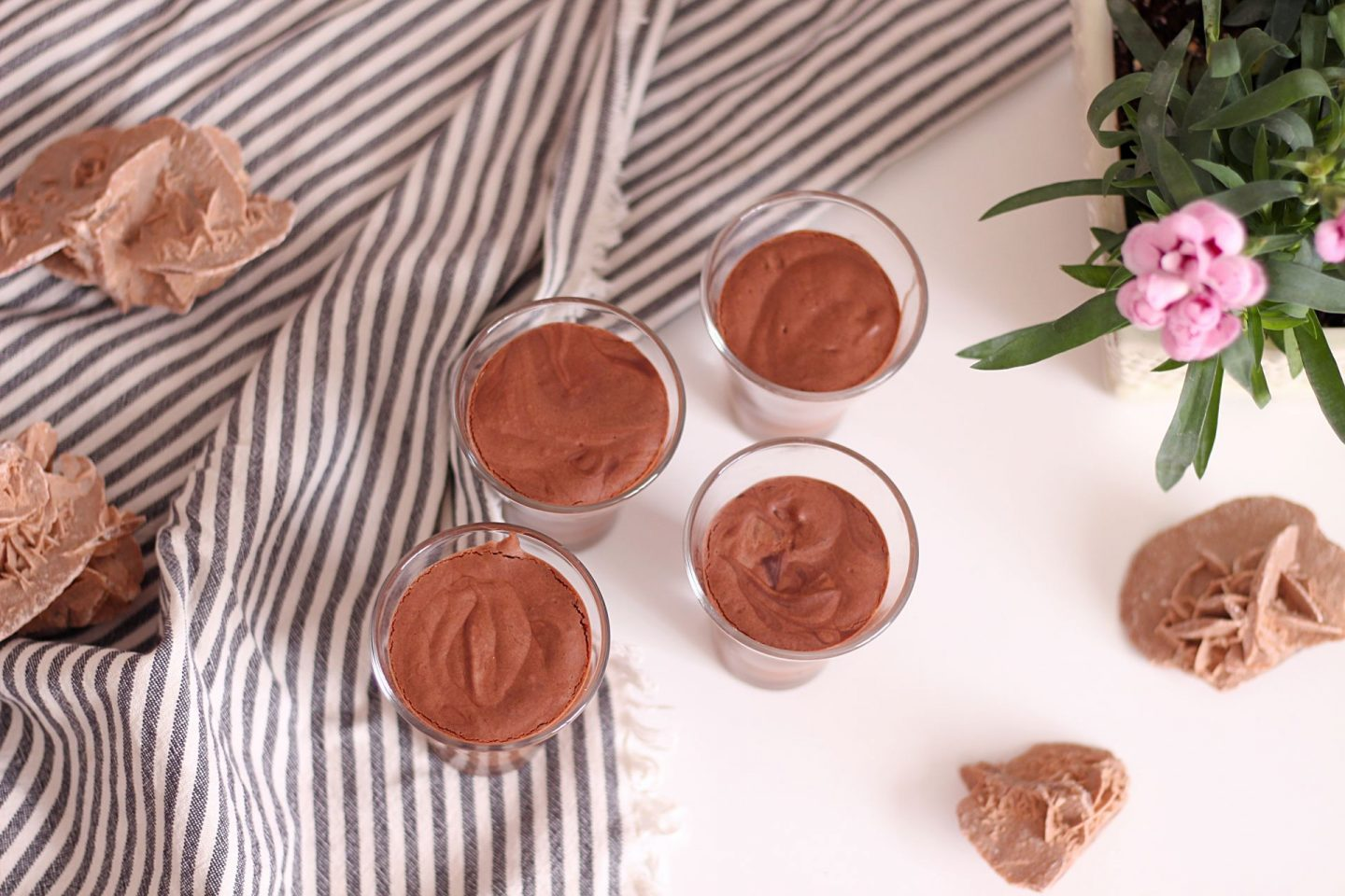 vegan chocolate mousse chickpeas