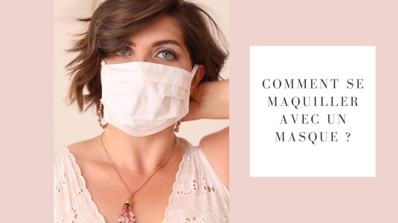 se maquiller avec un masque
