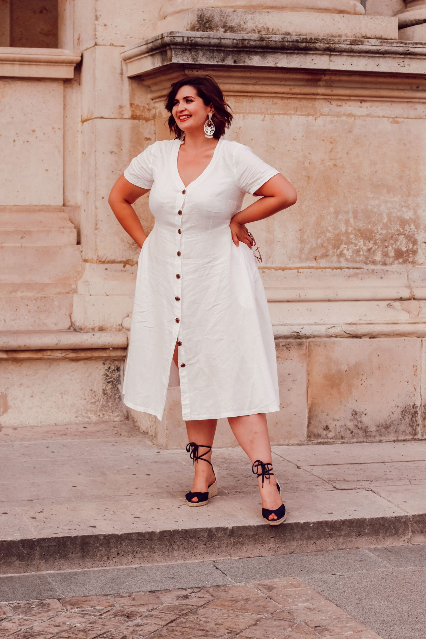 robe lin blanche