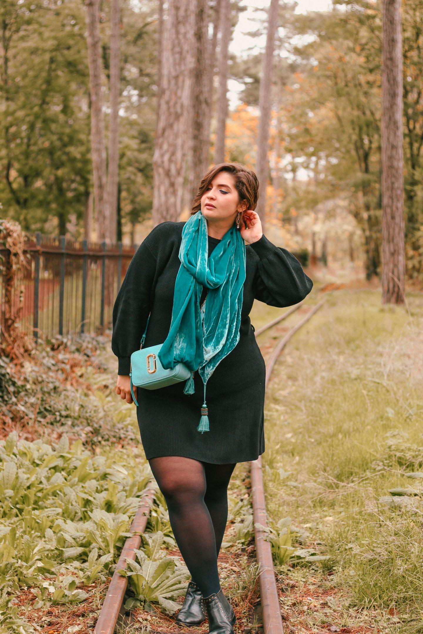 écharpe turquoise
